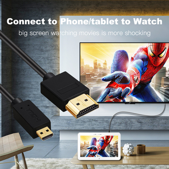 Micro HDMI to HDMI Cable Gold Plated 2.0 3D 4k 1080P high speed HDMI Cable Adapter for HDTV PS3 XBOX PC camera 1m 1.5m 2m 3m 4