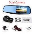 "Novatek 96655 Car DVR Car Rearview Mirror 4.3"" HD 1080P Camera Parking  Car DVR Dual Camera Video Recorder Dual Camera dash cam"