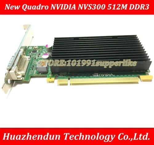 DEBROGLIE 1 PCS Brand New Nvidia quadro NVS300 altura Total 512 M DDR3 PCIE Placa Gráfica De Vídeo com Cabo DMS59