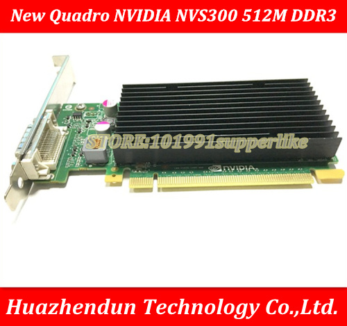 DEBROGLIE  1PCS  Brand New  Full Height Quadro NVIDIA NVS300 512M DDR3 PCIE Graphics Video Card  With DMS59 Cable