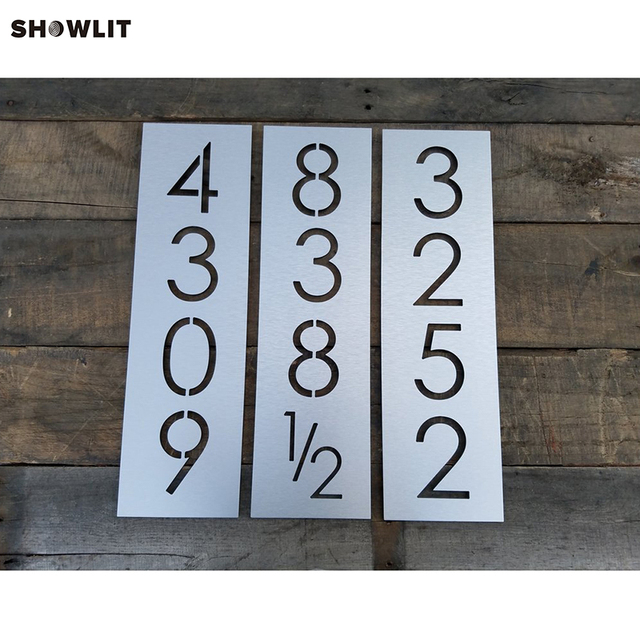 Custom Laser Cut Metal House Number Door Sign