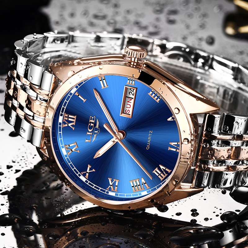 2019 LIGE New Watches Men Top Brand Fashion Automatic Date Male Stainless Steel Waterproof Business Men WristWatch Montre Homme2019 LIGE New Watches Men Top Brand Fashion Automatic Date Male Stainless Steel Waterproof Business Men WristWatch Montre Homme
