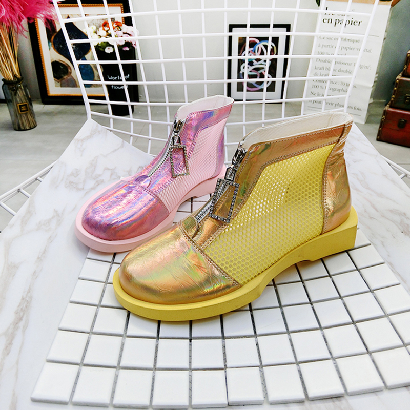 Womens Ankle Boots 2019 Summer Breathable Mesh Fashion Zip Boots For Woman Summer Shoes Rubber Sole Female Summer Boot ShoesWomens Ankle Boots 2019 Summer Breathable Mesh Fashion Zip Boots For Woman Summer Shoes Rubber Sole Female Summer Boot Shoes