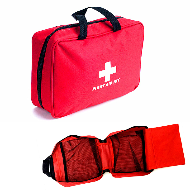 Large waterproof Oxford medical first aid kit bag for factory ,earthquake,home,travel pouch bag 26x18x8cm empty bag for travel medical kit outdoor emergency kit home first aid kit treatment pack camping mini survival bag