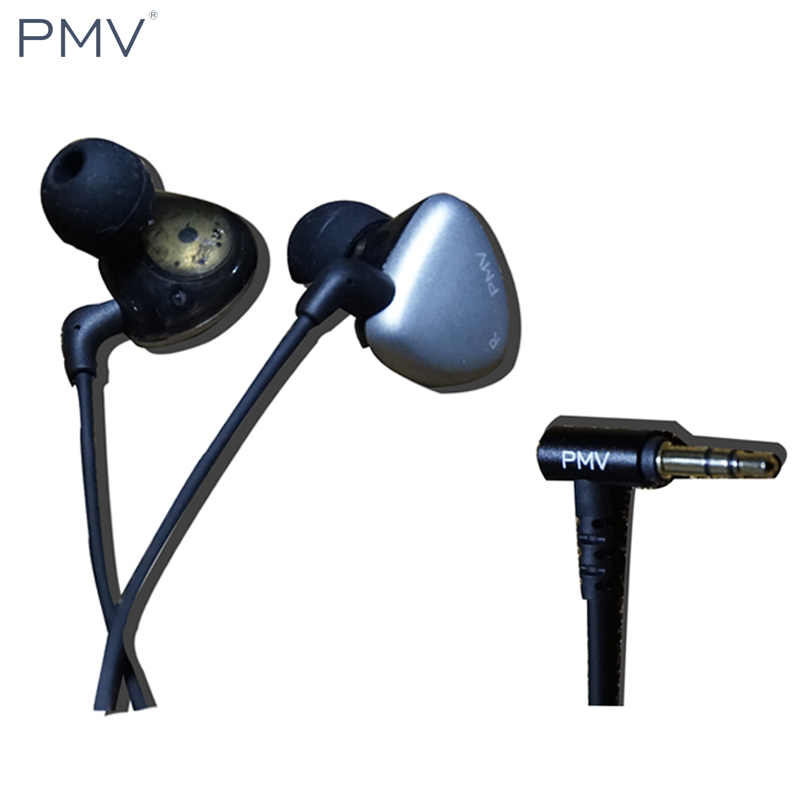 Original PMV A-01 MK2 In Ear Earphone Metal Earphones 1 Dynamic and 2 BA Hybrid 3 Unit Earbuds HIFI Headsets For Samsung Phones original senfer dt2 ie800 dynamic with 2ba hybrid drive in ear earphone ceramic hifi earphone earbuds with mmcx interface