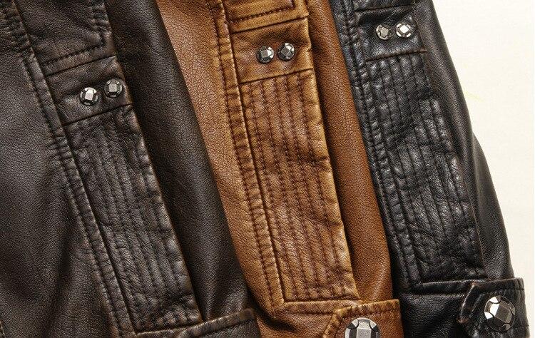jaqueta de couro da motocicleta casacos de