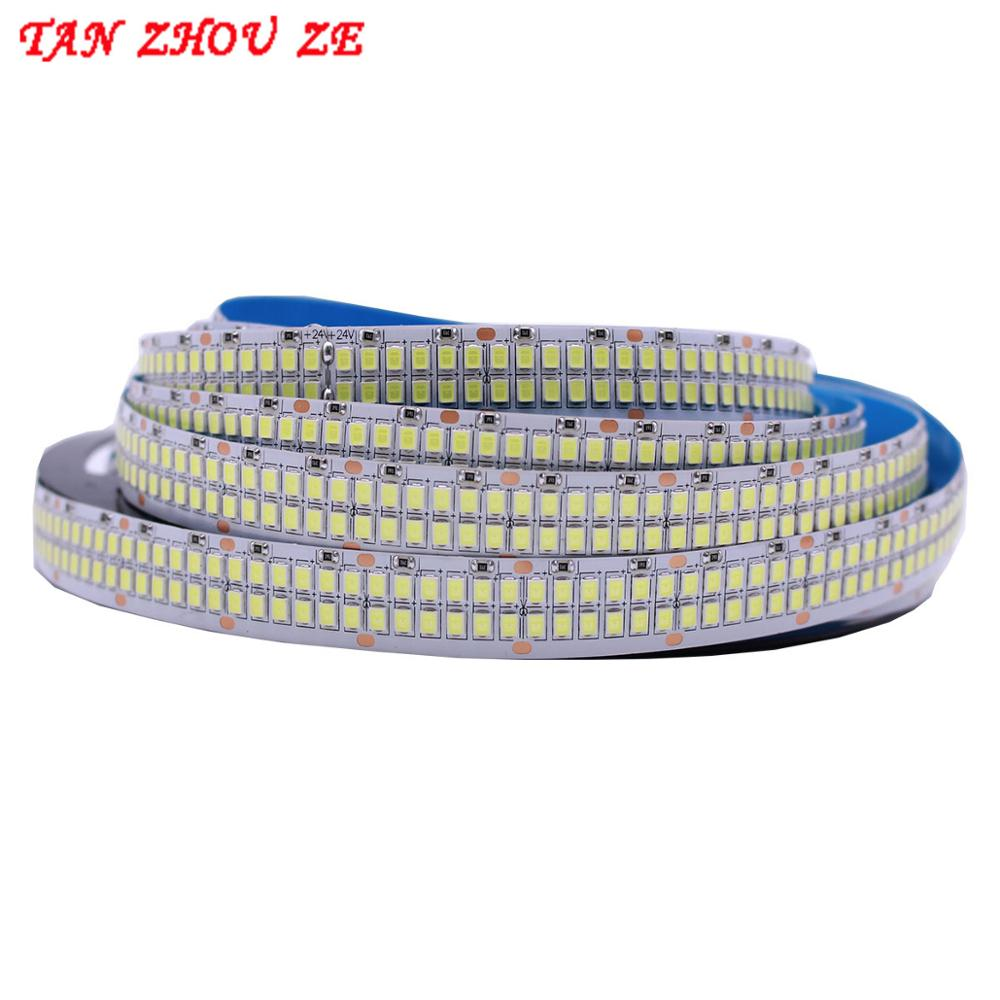 480Leds m SMD 2835 Led Strip 24V 12V 5M 2400Leds Double Row Flexible Led stripe 1200LEDs Tape Ribbon Project Ambilight Lights