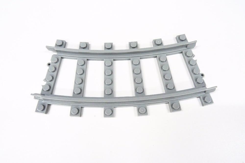 100 db / tétel városi vonat vasúti pálya vasúti íves sín - Építőjátékok