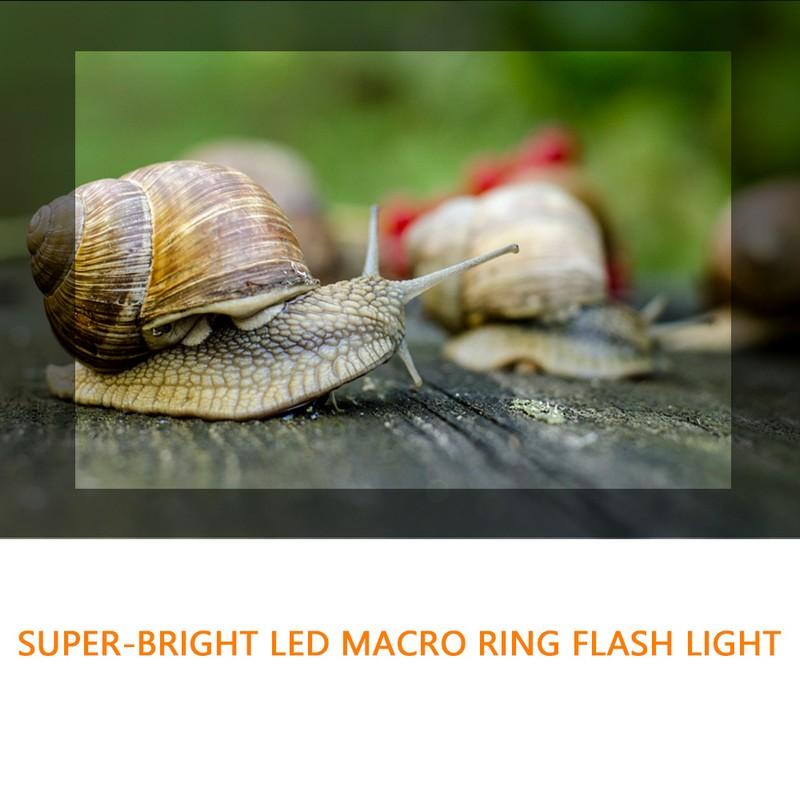 Travor 18 pcs Macro LED Ring Flash Light For Canon Nikon Panasonic Pentax Olympus DSLR Camera 3