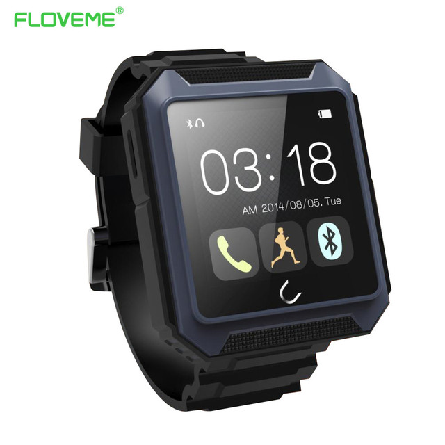 FLOVEME E3 Bluetooth 4.0 Smart Watch 1.54'' IPS Full View Fitness Tracker Pedometer Smartwatch for Android iOS Wristwatch Clock