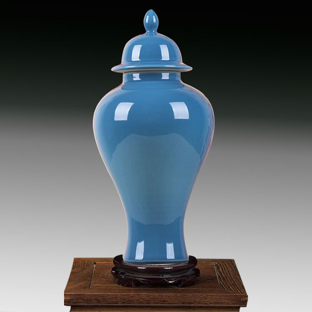 Chinese Jingdezhen Decorative Jars Blue Ceramic Ginger Antique Porcelain Jar With Lid