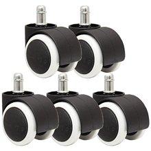 Мм 50 мм офисное кресло роликовый ролик колеса-набор из 5-черный и белый