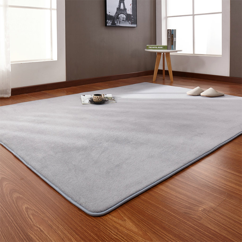 160*200cm High-end Home Coral Velvet Carpet Bedroom Living Room Non-slip Blanket Children Crawling Mat Tatami Mat Wholesale