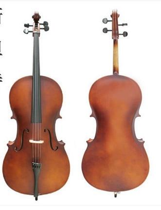 Δωρεάν αποστολή Νέο 4/4 μέγεθος τσέλο, πακέτο τσάντα Rosin τσάντα Φυσικό vintage χρώμα W / 4/4 τσάντα βιολοντσέλο