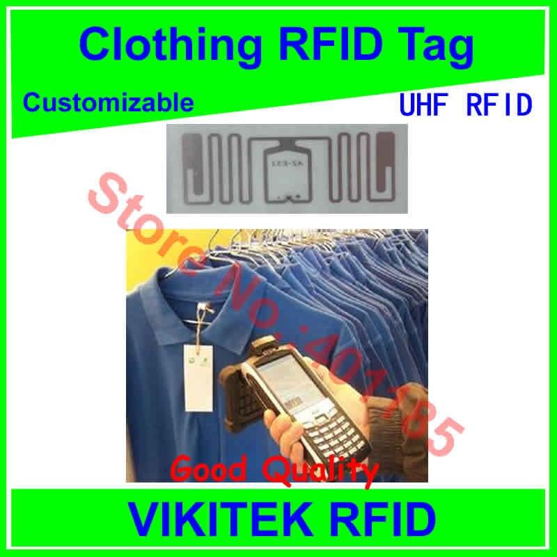 все цены на  Clothing UHF RFID tag customizable  860-960MHZ 915M EPC C1G2 ISO18000-6C Impinj E53 can be made to be printable tag  онлайн