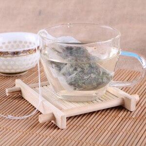 Image 4 - 100 יח\חבילה שקיות תה 5.5x7 CM ריק ריחני תה שקיות עם מחרוזת לרפא חותם מסנן נייר הרב Loose תה Bolsas דה te