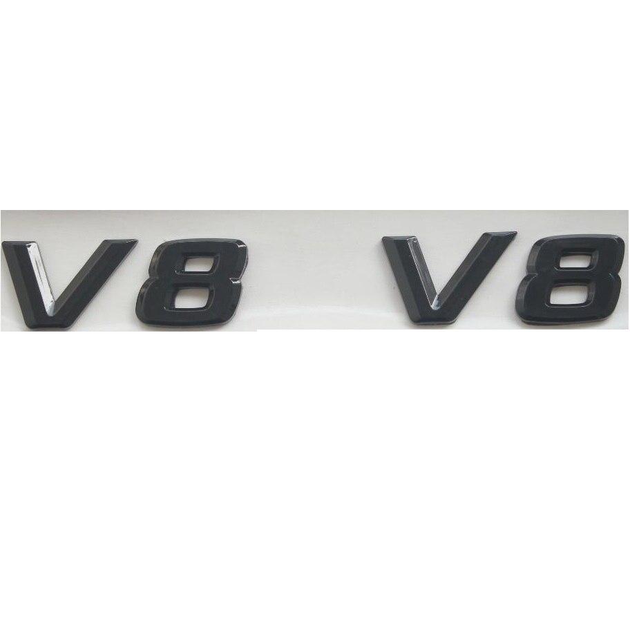 Black Front Hood Grille Grill Matt Metal Badge For Mercedes-Benz AMG Logo Emblem