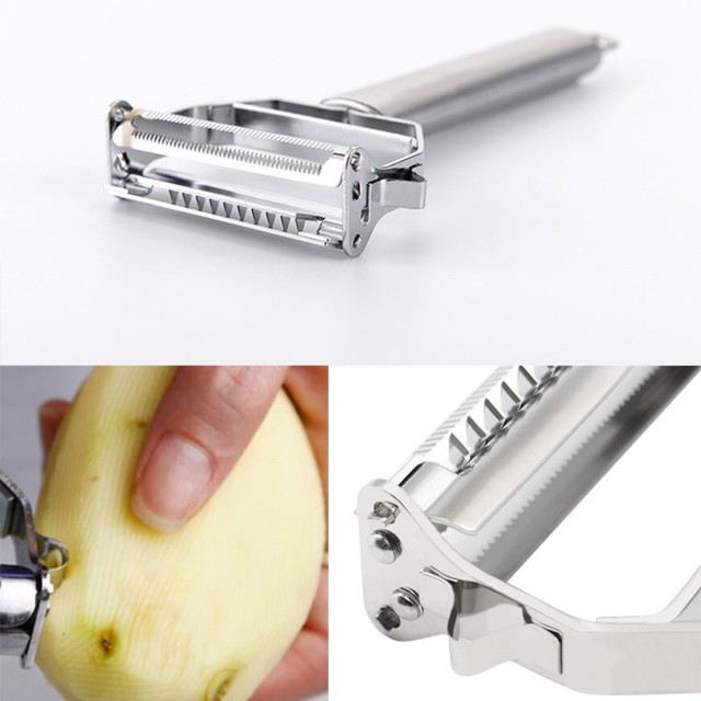 High Quality Stainless Steel Potato Cucumber Carrot Grater Julienne Peeler Vegetables Fruit Double Planing Tools 1