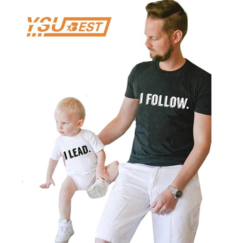 Семья подходящая друг к другу одежда отец и сын 2018 для новорожденных летние Семья наряды Костюмы футболка formother отец детская одежда ...