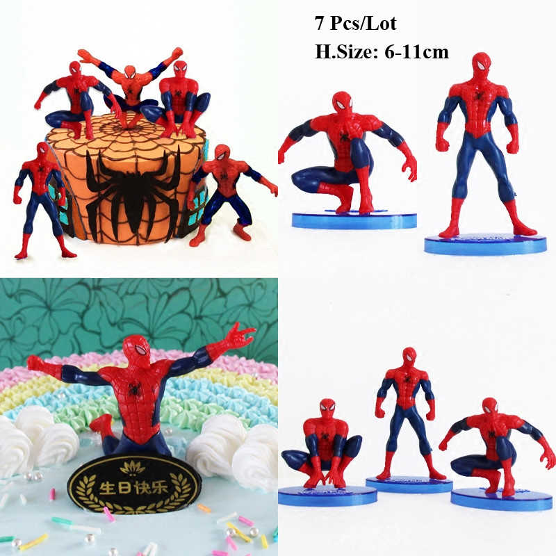 Spiderman Toys Cake Topper Birthday Decoration For Baby Gift Ideas Boyfriend
