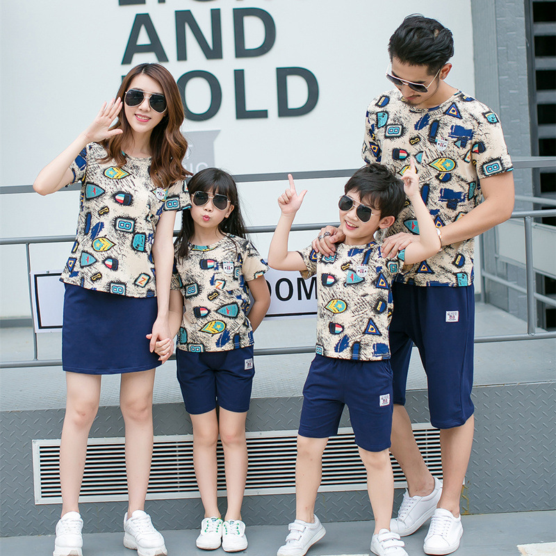 2019 summer new casual family matching clothing outfits