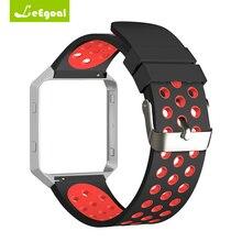 Для Fitbit Blaze Strap силиконовой лентой с Рамка Замена Бретели для нижнего белья для Часы silicona для fitbit Blaze Интимные Аксессуары смарт-часы