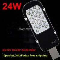 10 adet/grup  DHL Ücretsiz gönderim  24 W LED sokak lambası DC12V/DC24V LED Açık Sokak Lambası AC85 265V LED yol lambası Dış aydınlatma|Sokak Lambaları|   -
