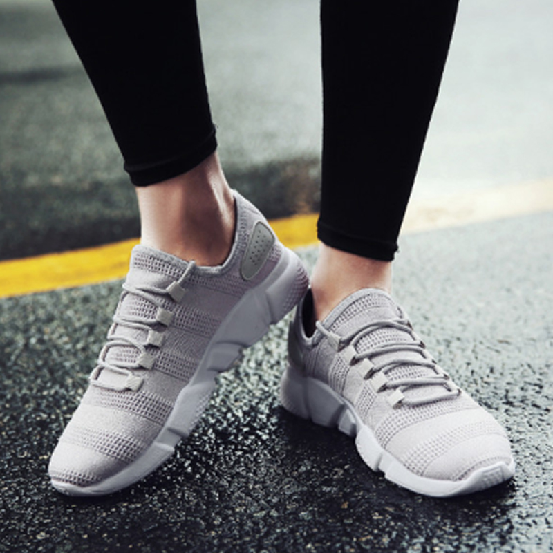 Summer Men Vulcanize Shoes Breathable Casual Fashion Sports Male Sneakers Air Mesh Trainers Lace-up Flat Shoes Dropship