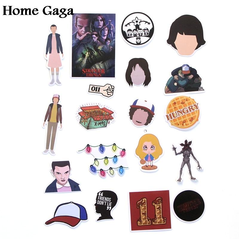 66pcs Stranger Things DIY 90s Art Print Notebook Phone Luggage Laptop Bicycle Scrapbooking Album Decals Stickers
