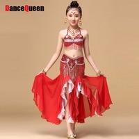 2018 Indian Dziecko Kostium Kostium-Do-Brzucha Taniec 2 sztuk 3 sztuk Dziewczyny Taniec Brzucha Kostium Roupas Academia Feminina Gypsy Ubrania