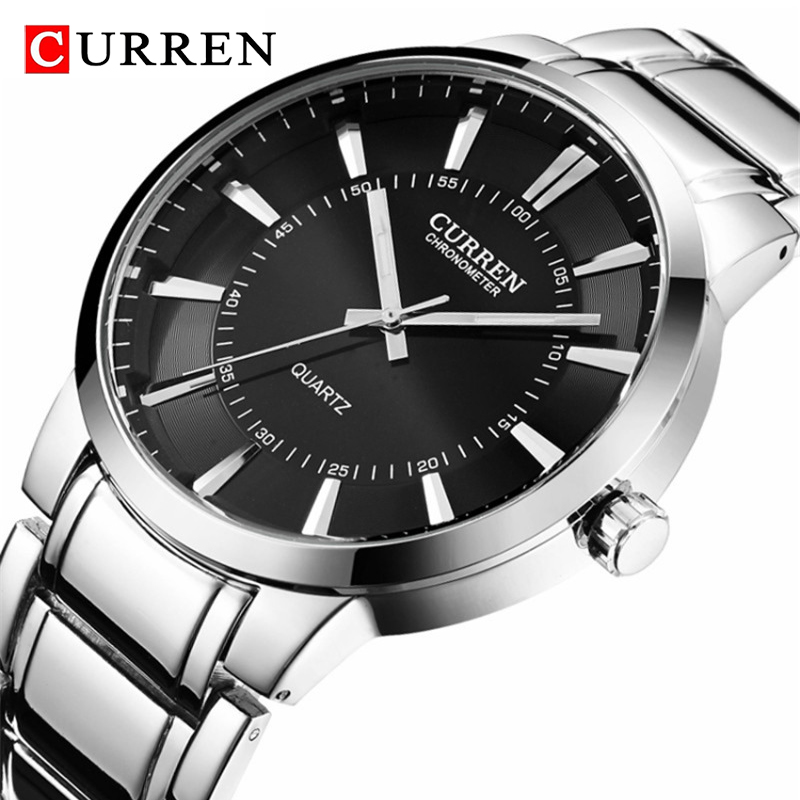 Watch Men Top Luxury Brand CURREN Quartz Sports Watches Waterproof Men Full Steel Army Military Men's Watch Relogio Masculino