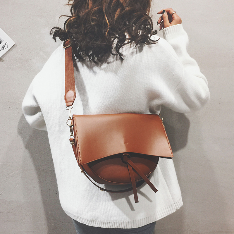 European Retro Fashion Tote Bag 2019 New Quality Soft PU Leather Women's Designer Luxury Handbag Casual Shoulder Messenger Bag