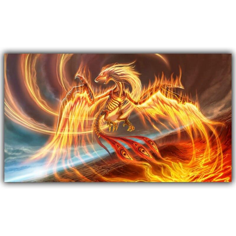 ộ_ộ ༽Phoenix dragón Fantasía Del Cartel Del Arte Sin Marco Cómics ...