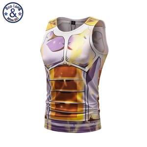 Мужские 3D топы на бретельках, компрессионная рубашка с драконом, Мужская Облегающая майка для фитнеса, майка для мышц, футболки, жилет для бо...