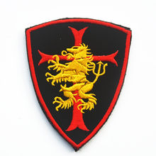 NSWDG NAVY SEAL TEAM 6 Gold Squadron DEVGRU LION CROSS CRUSADER SHIELD SWAT PATCH BADGE(China)