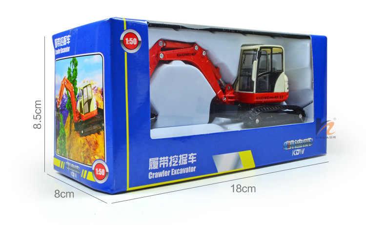 Merek Diecast kendaraan rekayasa paduan mobil model Kaidiwei crawler excavator pertambangan model dalam kotak hadiah mainan anak-anak