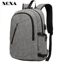 Фотография XQXA Brand Men Backpack Oxford Casual 15.6 Inch TSA Laptap Bag Men