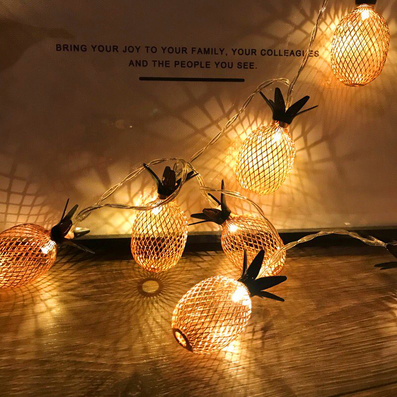 New Arrival Fairy Led Retro Pipeapple String Lights 1.5M 3M LED Novelty Holiday Bedroom Wedding Party Romantic Warm Light Decor (10)