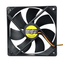 Sıcak satış 120x25mm 120mm Fan 12V DC fırçasız PC bilgisayar kasası soğutucu 3Pin konnektör soğutma fanı CPU için radyatör masaüstü bilgisayar