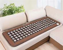 2017 korea heated mattress Heating jade massage cushion Far Infrared Heating Mattress free gift sleeping eye cover 50*150CM