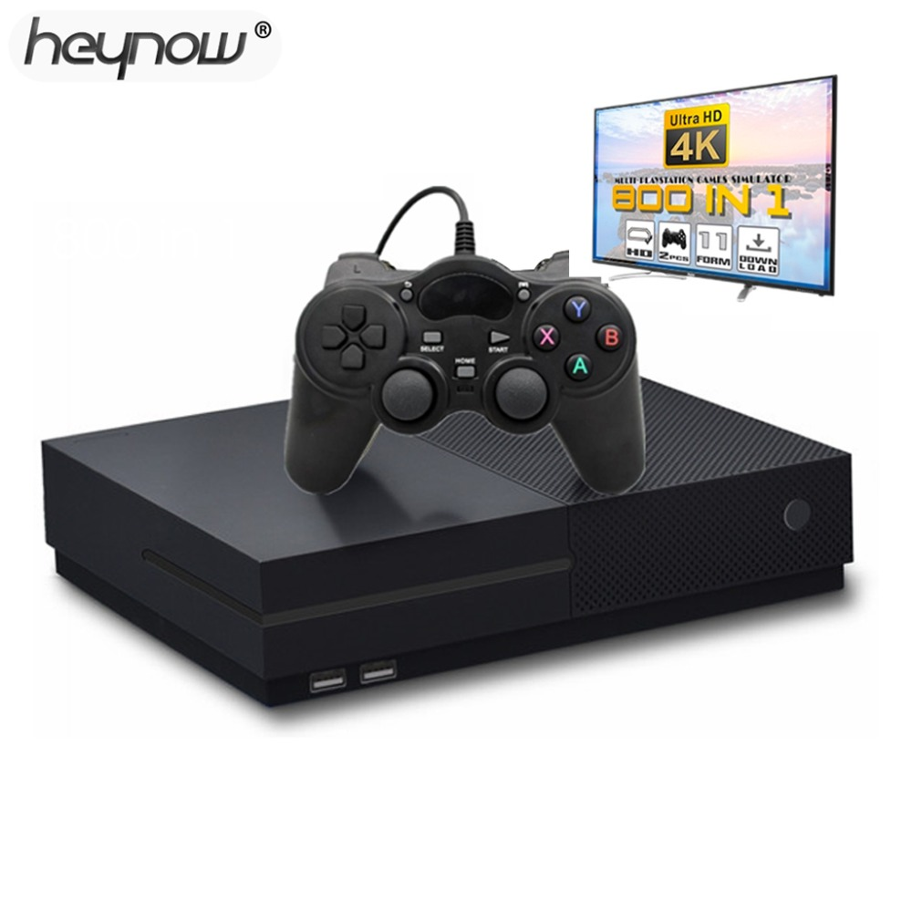 2018 NIEUWE Ultra HD Video 4 k Game Console Ingebouwde 800 Games 64 bit HDMI TV Output Retro Familie TV game Player Voor PS1/CPS/GBC/SMS-in Videogameconsoles van Consumentenelektronica op  Groep 1