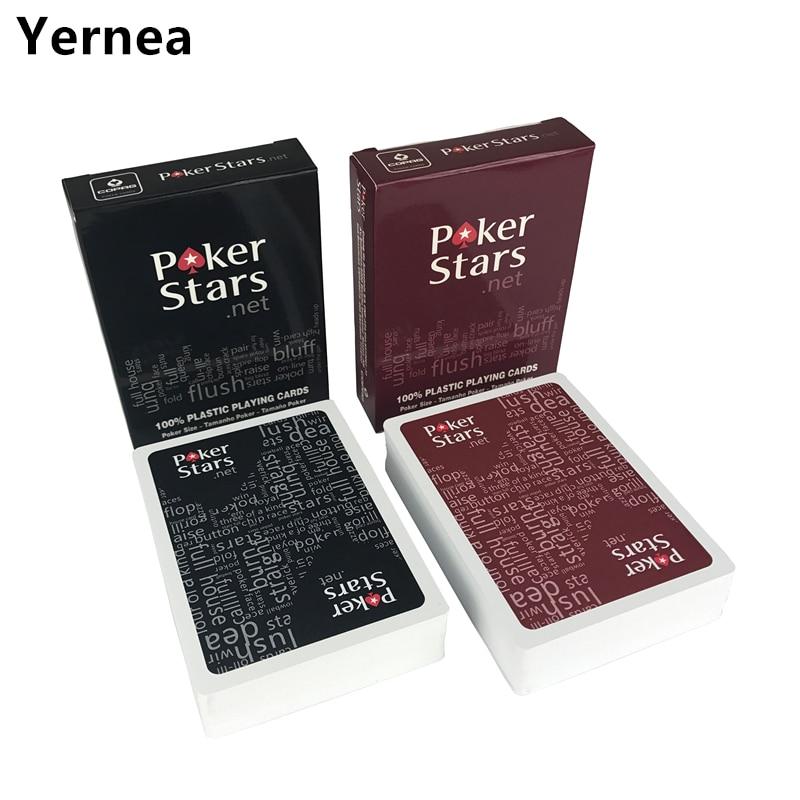 2 rinkiniai / partija Baccarat Texas Holdem plastikiniai kortų žaidimai pokerio kortelės Neperšlampami ir nuobodu lenkų pokerio žvaigždė Stalo žaidimai Yernea