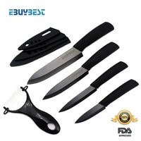 Zirconia Ceramic Knife Set 3 4 5 6 Inch Peeler Covers Black Blade Black Colors Handle