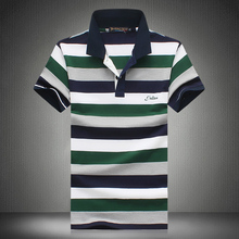 2017 Summer Fashion Men s Short Sleeve Polo shirts High quality breathable mens casual striped POLO