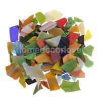 200 г/упак. разноцветная стеклянная мозаичная плитка неправильной формы Tessera для рукоделия 10-30 мм