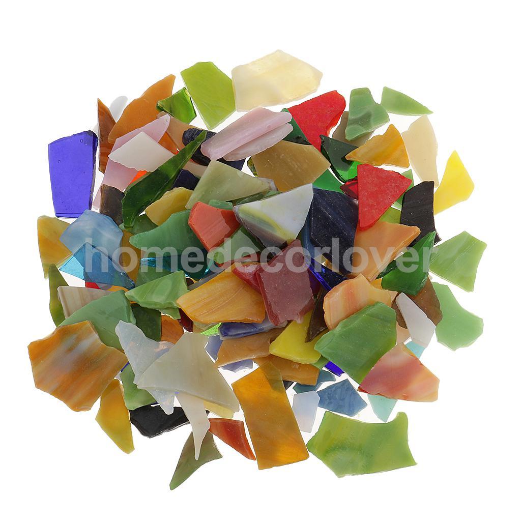 200 gr/paket Unregelmäßige Form Verschiedene Farbe Glas Mosaik Fliesen Tessera für Kunst DIY Handwerk 10-30mm