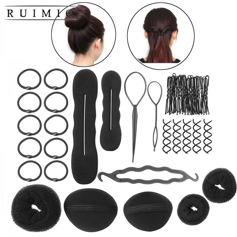 RUIMIO Women Girls DIY Hair Styling Accessories Kit Set Hair