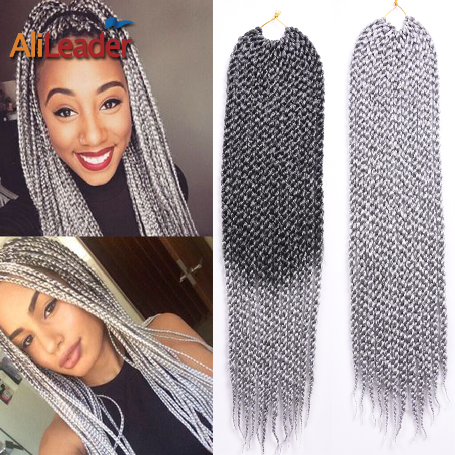 Crochet Box Braids Grey : Crochet Twist Braiding Hair 22 Ombre Silver 3D Cubic Twist Crochet ...