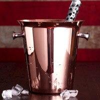 Rose Gold Ice Buckets Wine Ice Bucket 5L Ice Bucket Stainless Steel CopperWine Bottle Cooler