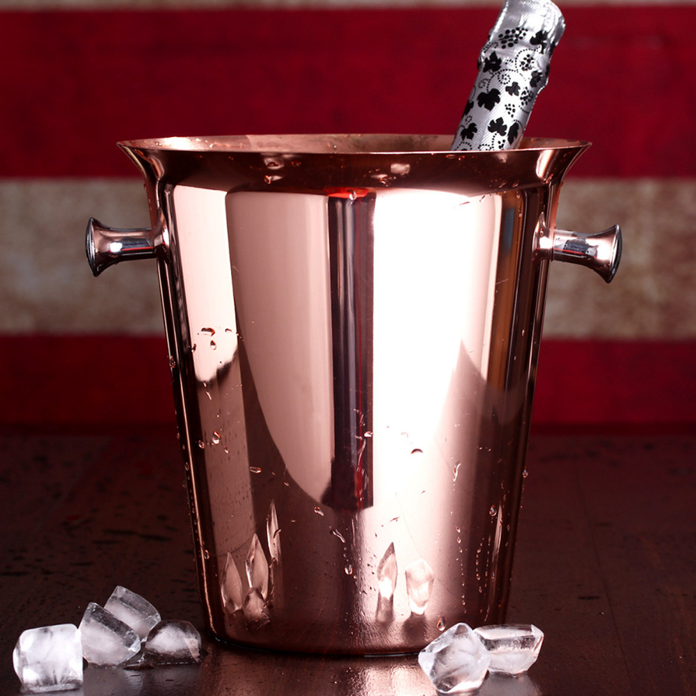 Rose Gold Ice Buckets Wine Ice Bucket 5l Ice Bucket